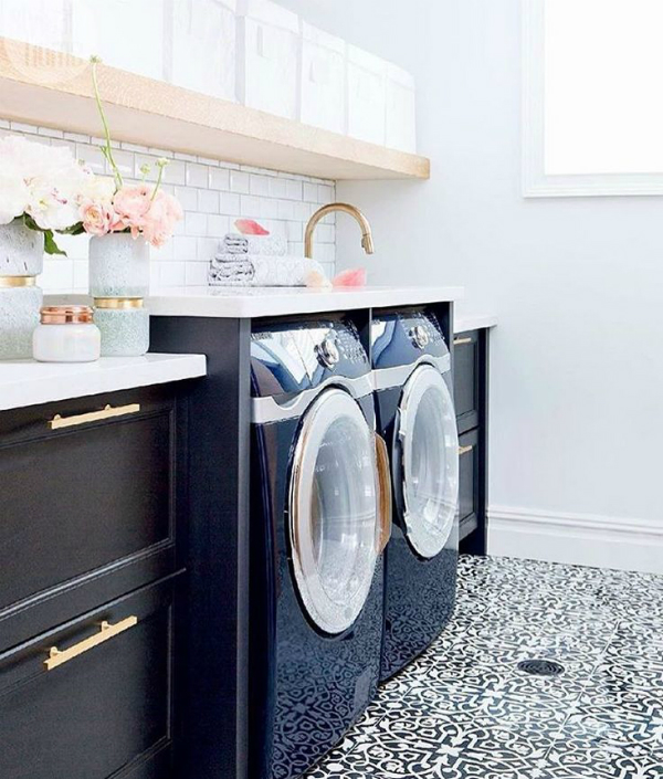 Glam style laundry room