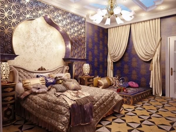 Bedroom in classic Arabian style