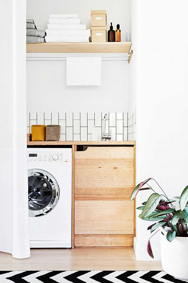 Minimalist style laundry room