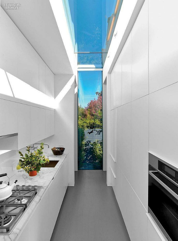 Skylight that extends to the wall