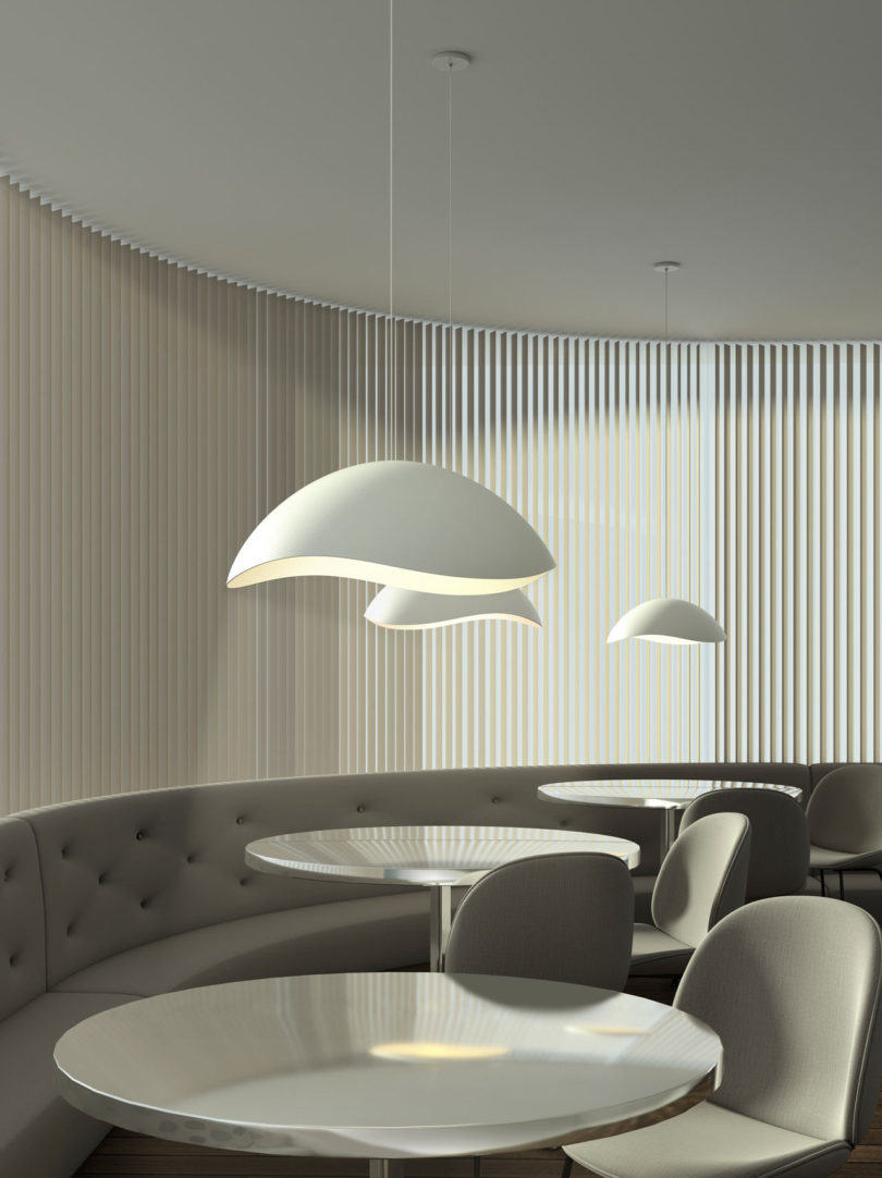 ... A Deep Bell And A Widened Dome U2013 Along With A Sconce Variation, That  Each Feature Undulating Edges That Reveal Light On The Interior Surfaces.