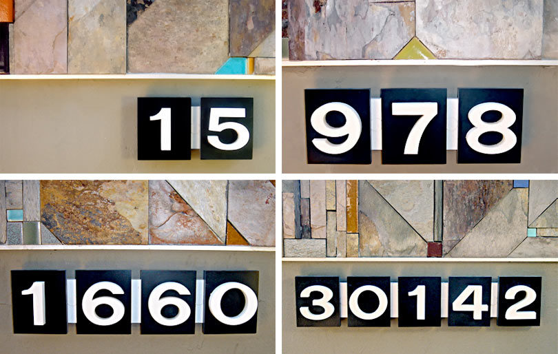 Updated Modern House Numbers Online Home Design Blog