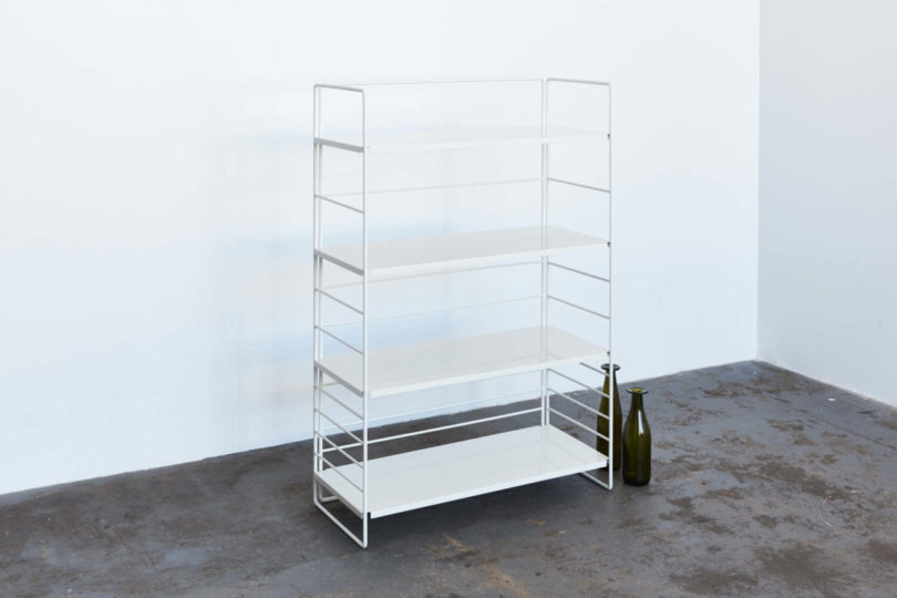 The Outer Framework And Folded Steel Shelves Snap Together Via Plastic Clips